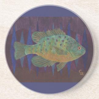 Pumpkinseed Sunfish Drink Coaster