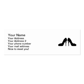 Pumps high heels pack of skinny business cards