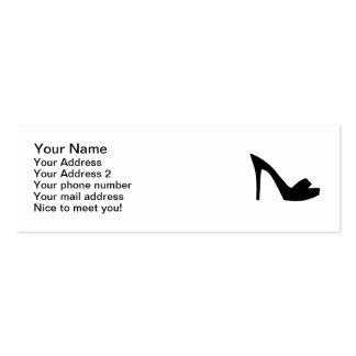 Pumps peep toe pack of skinny business cards