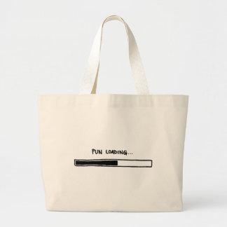 Pun Loading Large Tote Bag