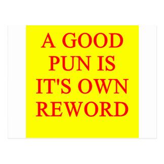 pun on puns postcard