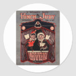Punch and Judy Puppets Illustration Art Stickers