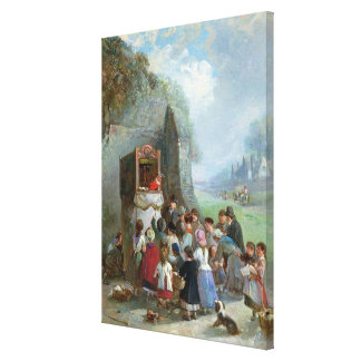 Punch and Judy Stretched Canvas Print