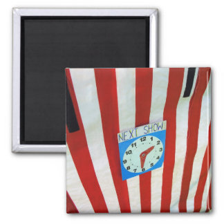 Punch and Judy tent and clock Square Magnet