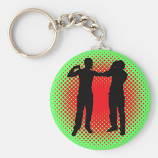 Punch. Basic Round Button Key Ring