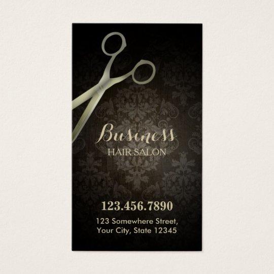 Punch Card | Anitique Scissor Damask Hair Salon