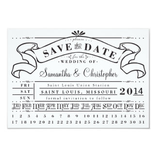 Punch Card Vintage Ticket Banner Save the Date 9 Cm X 13 Cm Invitation Card