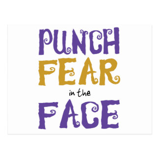 Punch Fear in the Face Postcard