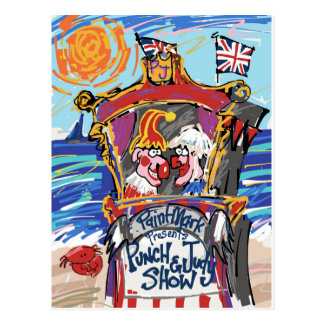 Punch & Judy by PaintMark Postcard