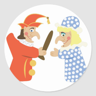 Punch & Judy Classic Round Sticker
