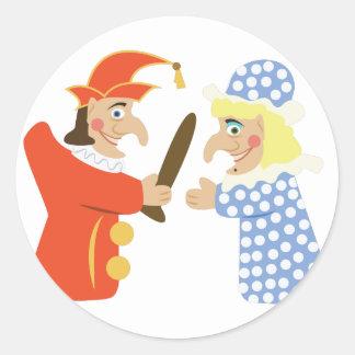 Punch & Judy Round Sticker