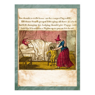 Punch & Judy Story Plate IV Postcard