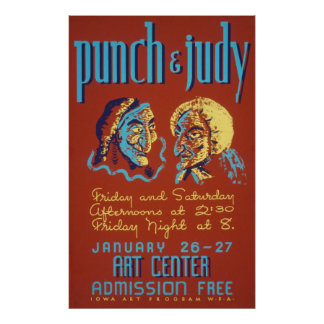 Punch & Judy Vintage Poster