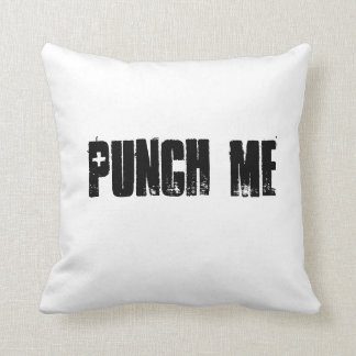 Punch Me Throw Pillow Throw Cushions