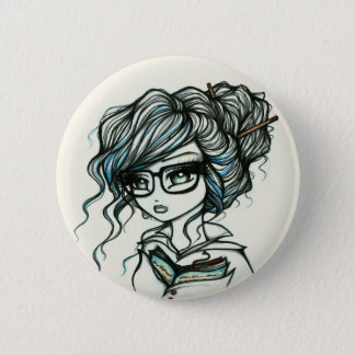 Punch of Color Book Girl Fairy Fantasy 6 Cm Round Badge