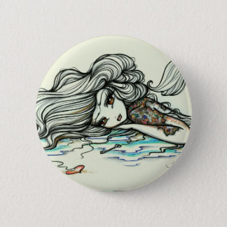Punch of Color Mermaid Map Tattoo Fairy Fantasy 6 Cm Round Badge