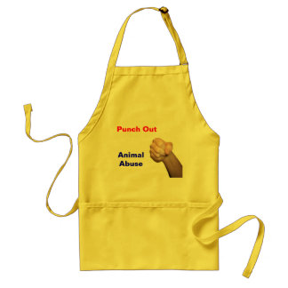 Punch Out Animal Abuse Standard Apron