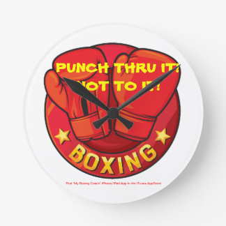 Punch Thru It!  Not To It! Clock