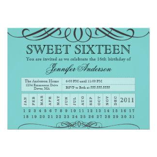 Punch Ticket Sweet Sixteen Custom Invitation
