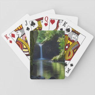 Punchbowl Falls Along Eagle Creek Trail 2 Playing Cards