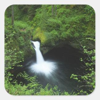 Punchbowl Falls on Eagle Creek, Columbia River Square Sticker