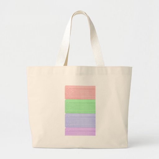 punched card canvas bag