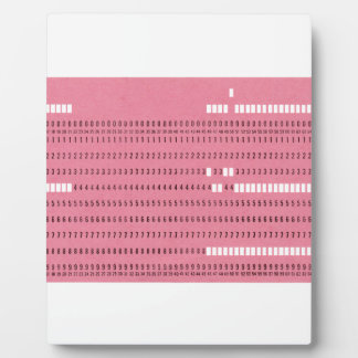 Punched card transparent background plaques