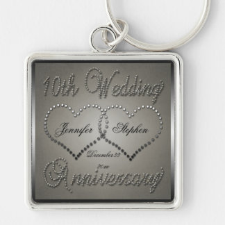 Punched Tin 10 Year Anniversary Key Ring