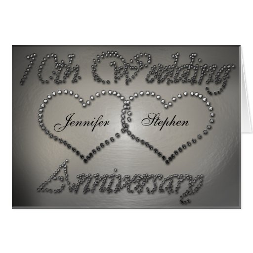 10 Year Wedding Anniversary Tin Gifts: Punched Tin 10th Wedding Anniversary Card