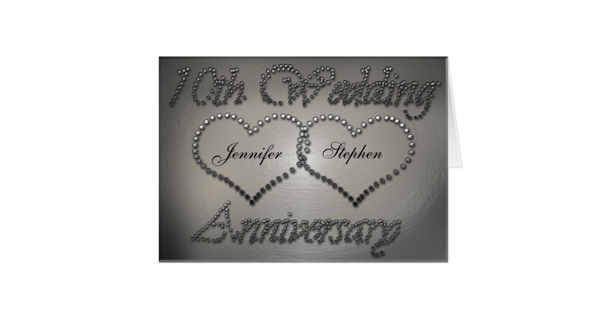 Tin Wedding Anniversary Gift: Punched Tin 10th Wedding Anniversary Card