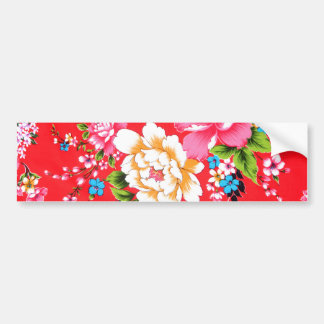 Punchy floral pattern bumper sticker