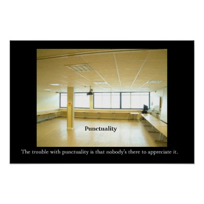 Anti Motivation Posters on Punctuality Office Motivational Anti Motivational Posters   Zazzle Co