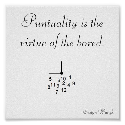 Punctuality Poster