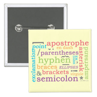 Punctuation II 15 Cm Square Badge