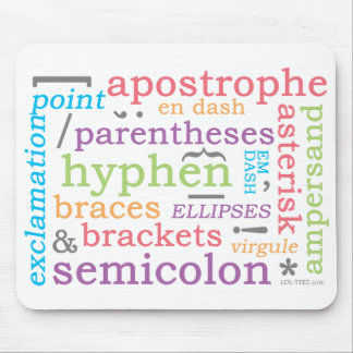 Punctuation II Mouse Pads