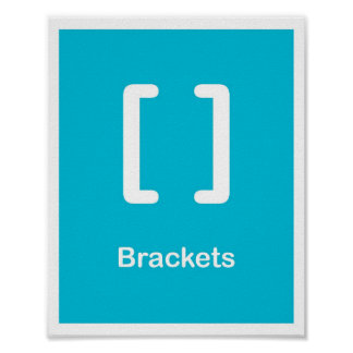 Punctuation Marks- Brackets Posters