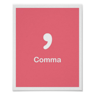 Punctuation Marks- Comma Poster