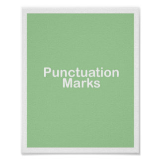 Punctuation Marks Title Poster