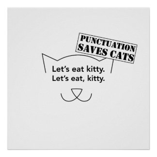 Punctuation Saves Cats Poster