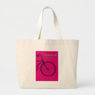 Punctured Bicycle Large Tote Bag