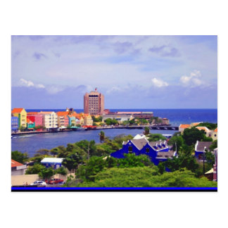 Pundaside of Willemstad Curacao on Postcard