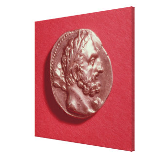 Punic coin bearing the head of Hamilcar Barca Canvas Prints