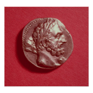 Punic coin bearing the head of Hamilcar Barca Print