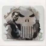 Punisher & Logo Grunge Graphic Mouse Pad