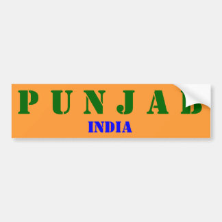 Punjab* India Bumper Sticker Car Bumper Sticker
