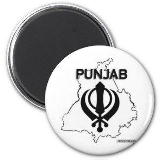 Punjab Series 6 Cm Round Magnet
