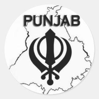 Punjab Series Classic Round Sticker
