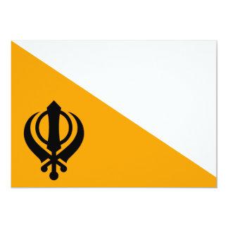 Punjab Sikh Holy Flag Sikhism Nishan Sahib 13 Cm X 18 Cm Invitation Card