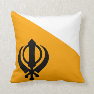 Punjab Sikh Holy Flag Sikhism Nishan Sahib Throw Pillow