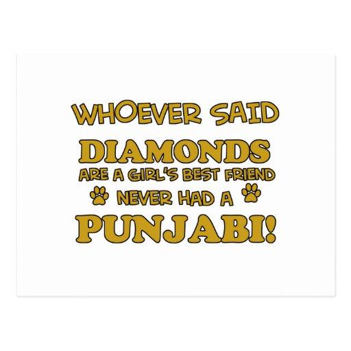 Punjabi cat breed designs postcards